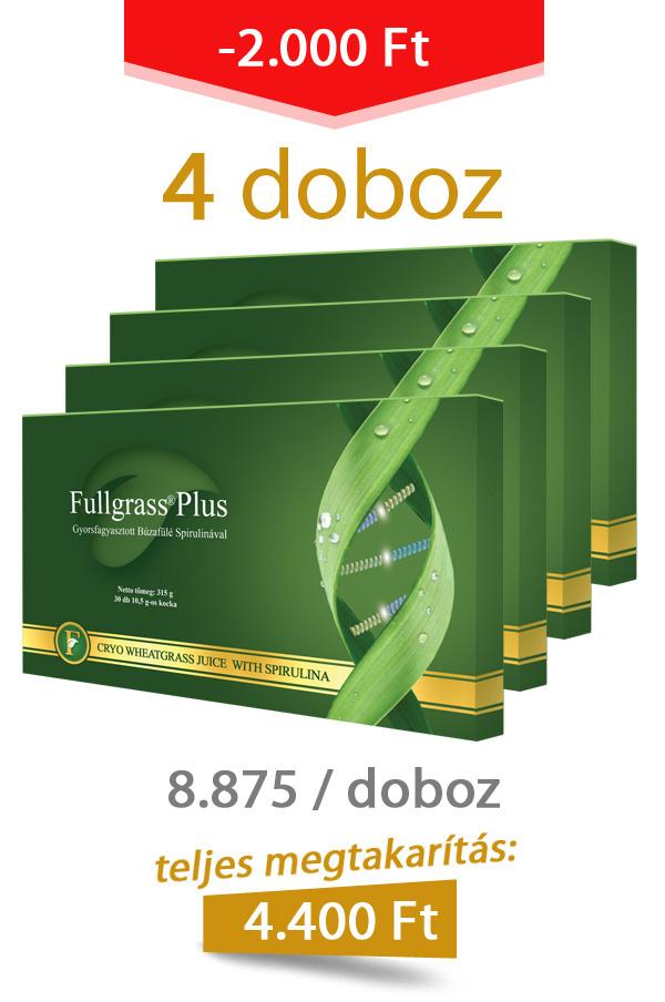 4 doboz Fullgrass Plus mélyfagyasztott búzafűlé / akciós