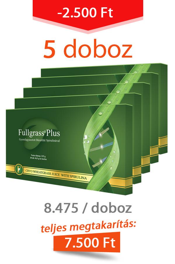 5 doboz Fullgrass Plus mélyfagyasztott búzafűlé / akciós