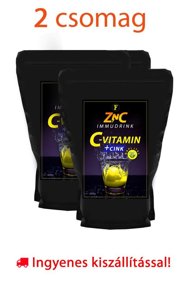 2 csomag ZnC Immudrink 600g - C2 c-vitamin + cink