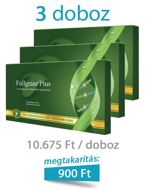 3 doboz Fullgrass Plus mélyfagyasztott búzafűlé