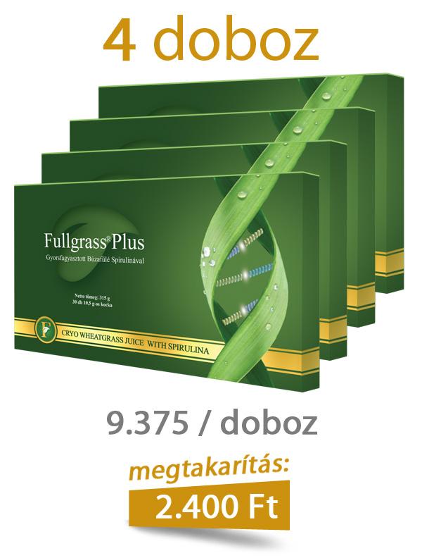 4 doboz Fullgrass Plus mélyfagyasztott búzafűlé