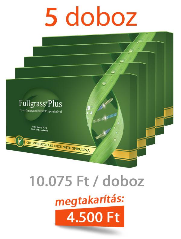 5 doboz Fullgrass Plus mélyfagyasztott búzafűlé